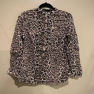 Zara leopard top